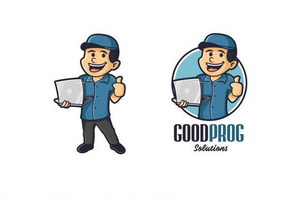 Gadget boy mascot logo Vector Premium | Premium Vector # ...