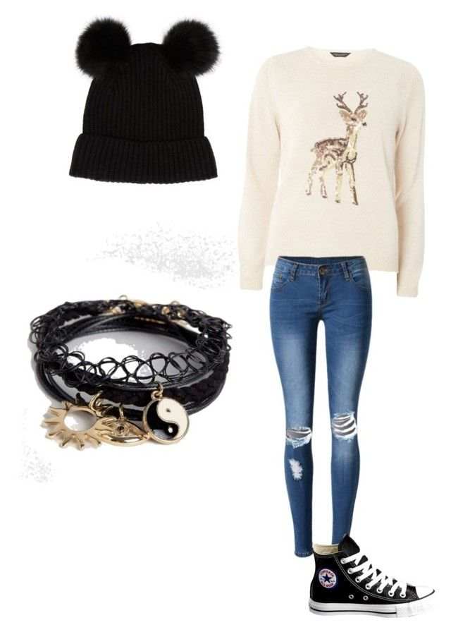 """""""Untitled #3"""" by mariah-heinlein on Polyvore featuring Dorothy Perkins, WithChic, Converse and ASOS"""