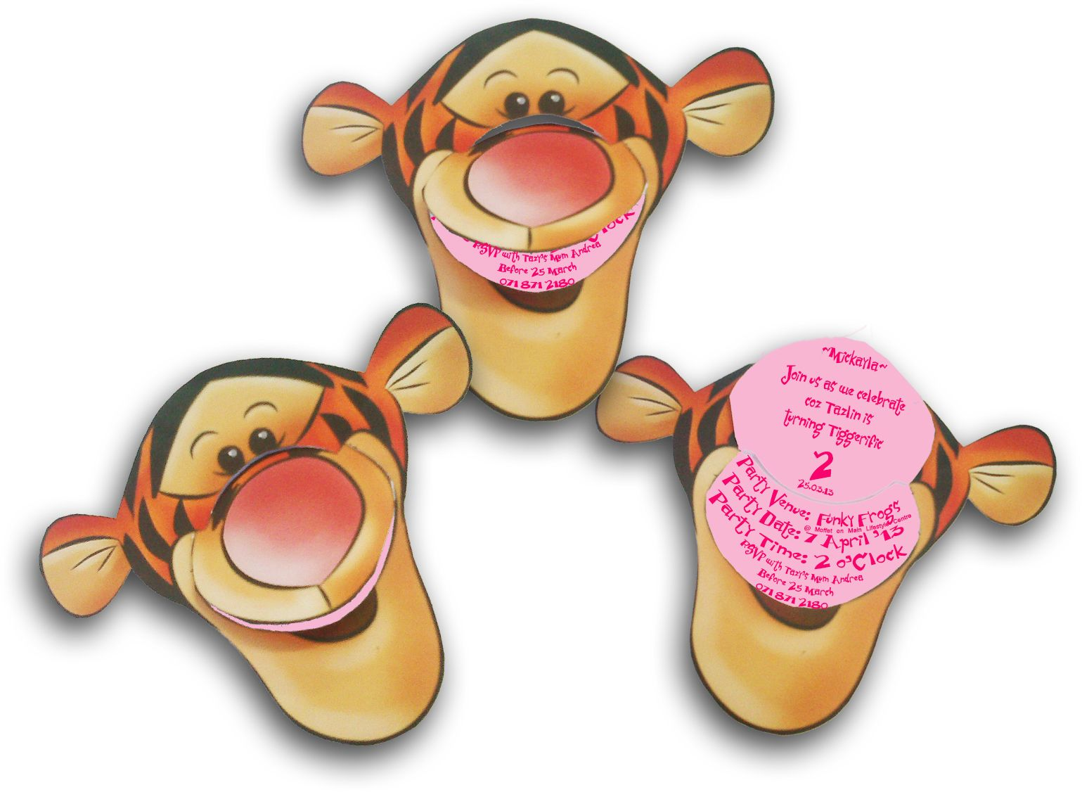 Tigger Invites How to put a girly touch without making Tigger look – Tigger Birthday Party Invitations