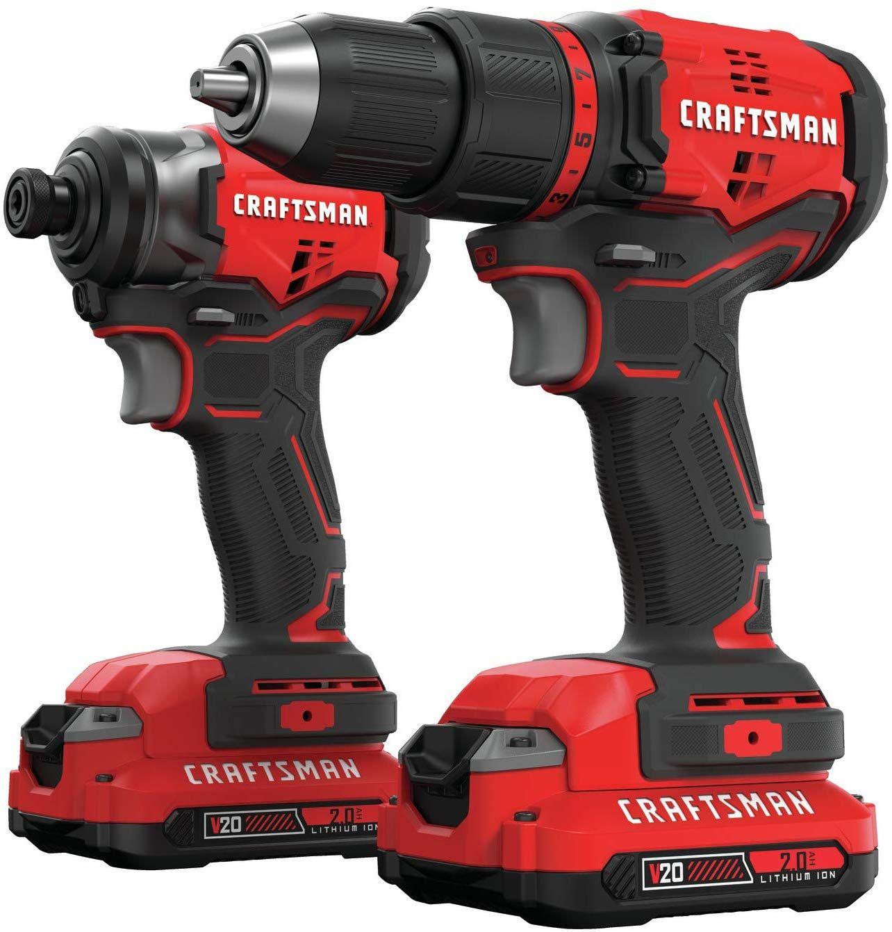 Craftsman V20 Cordless Drill Combo Kit 2 Tool Cmck210c2 Drill Cordless Drill Cordless Drill Reviews