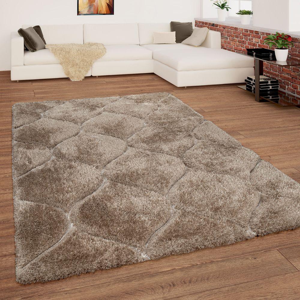 Hochflor-Teppich Flauschig Wellen-Muster - Traumhaft weich schafft