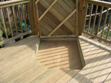 Sandbox W/ Lid, Built Into Deck
