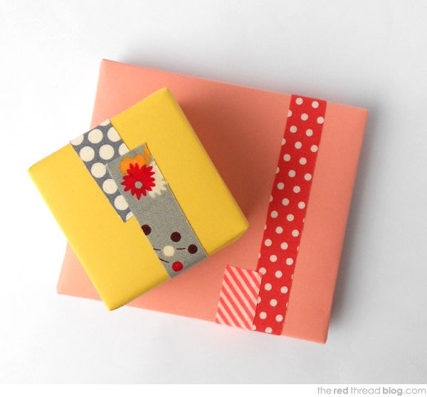 the red thread Make your own FabricTape {wrapped} #fabrictape