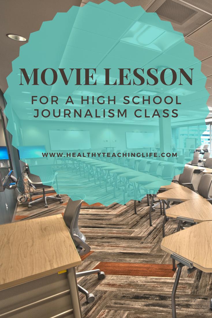 Journalism Movie Lesson High School Literature Creative Writing
