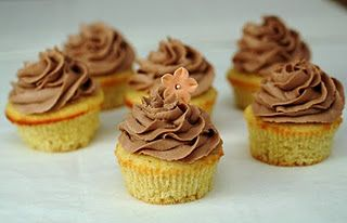 cupcakes with Chocolate Hazelnut Frosting