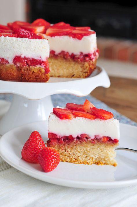 Erdbeer Joghurt Kuchen Vegan Fructosearm Erdbeer Joghurt Kuchen Laktosefreier Kuchen Joghurt Kuchen