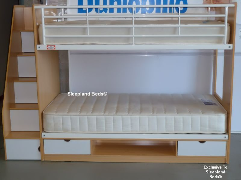 Storage Bunk Beds Childrens Deluxe Bunk Bed With Staircase