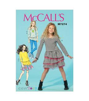 8721 UNCUT McCalls SEWING Pattern Misses Dresses Tunic Pull on Pants Skirt