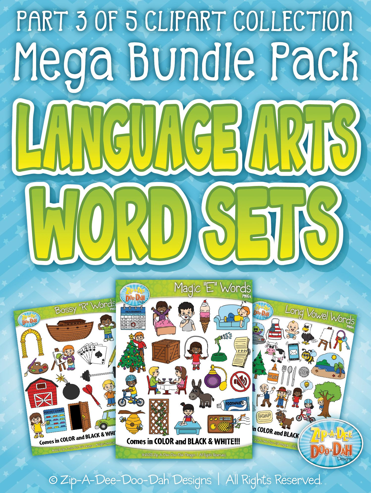 Language Arts Words Clipart Part 3 Mega Bundle Zip A Dee