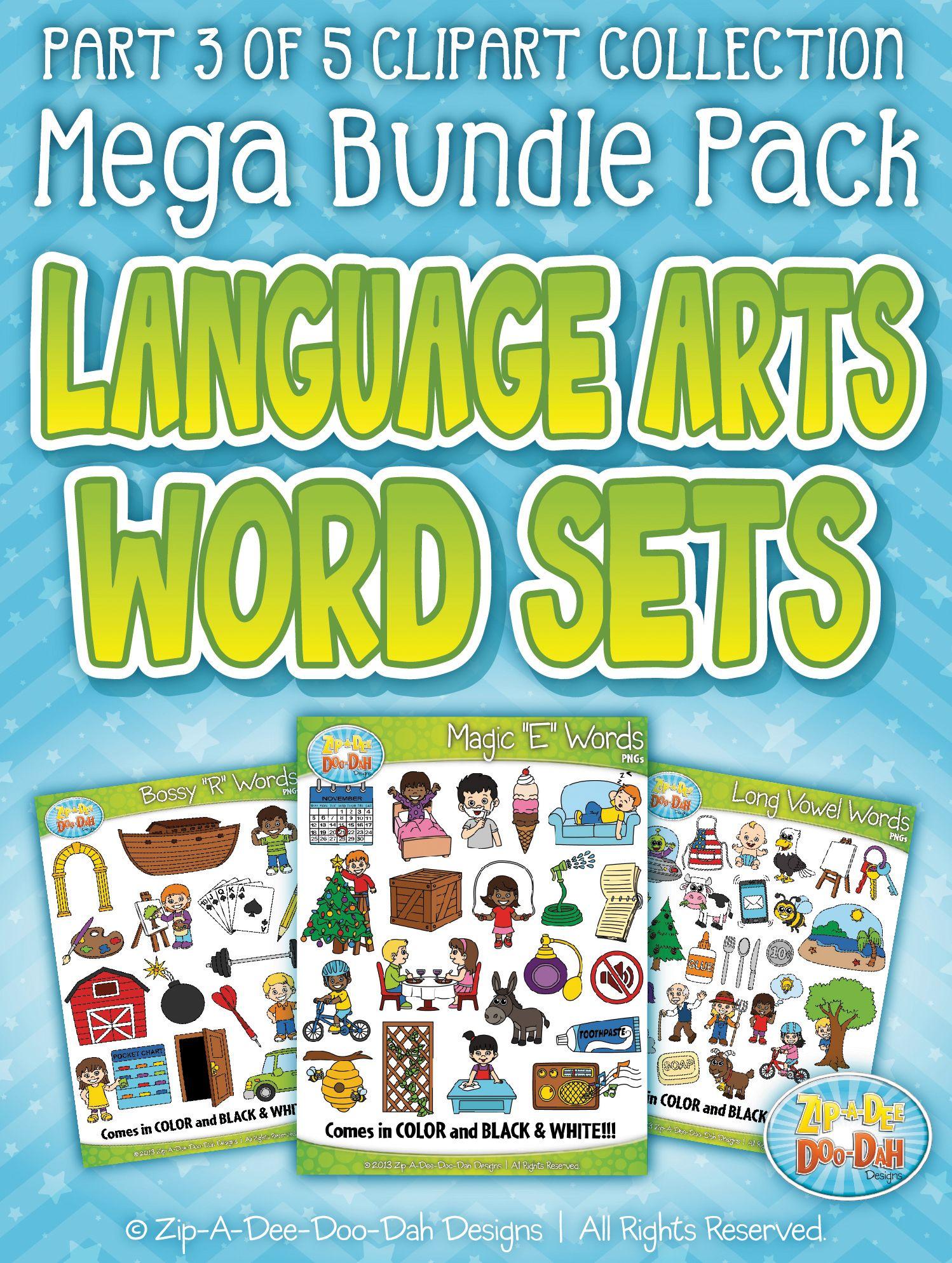 Language Arts Words Clipart Part 3 Mega Bundle Zip A Dee