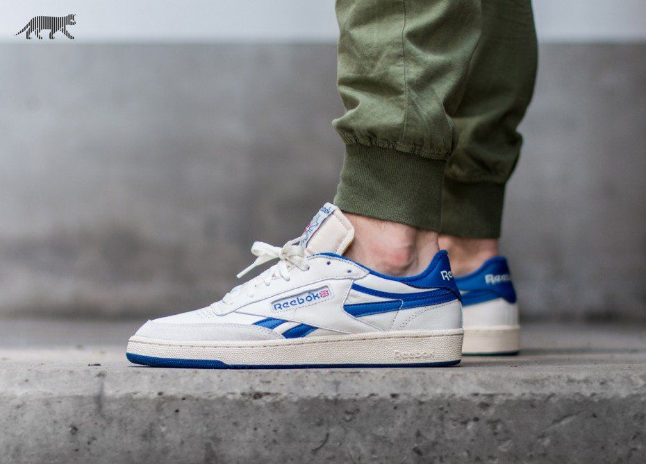Reebok Revenge Plus Vintage (Chalk Paperwhite Royal Blue