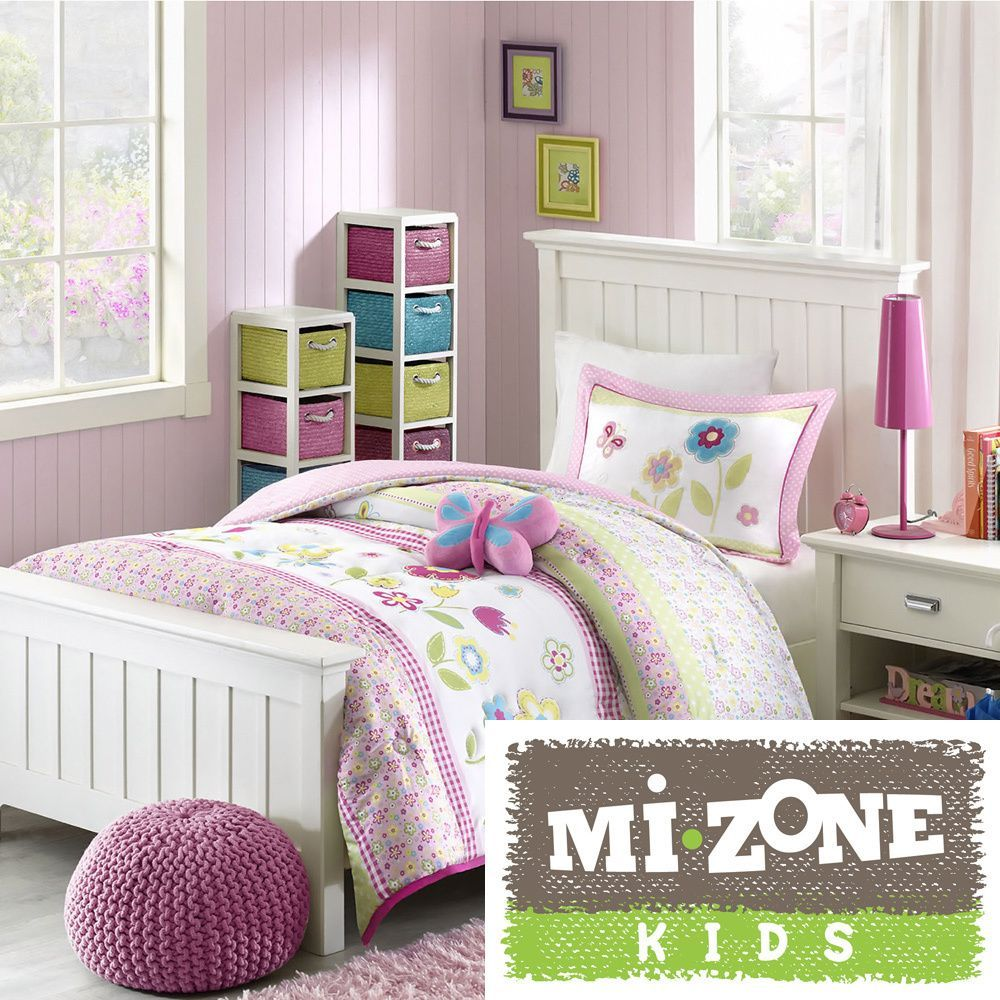 The charming flower power comforter set is adorned with pink green the charming flower power comforter set is adorned with pink green and blue flowers to mightylinksfo