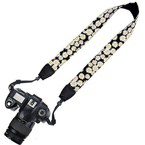 Adjustable CAMERA STRAP Neon Fabric Woven Camera Strap Camera Strap Ethnic dslr camera strap Boho canon camera strap nikon camera strap