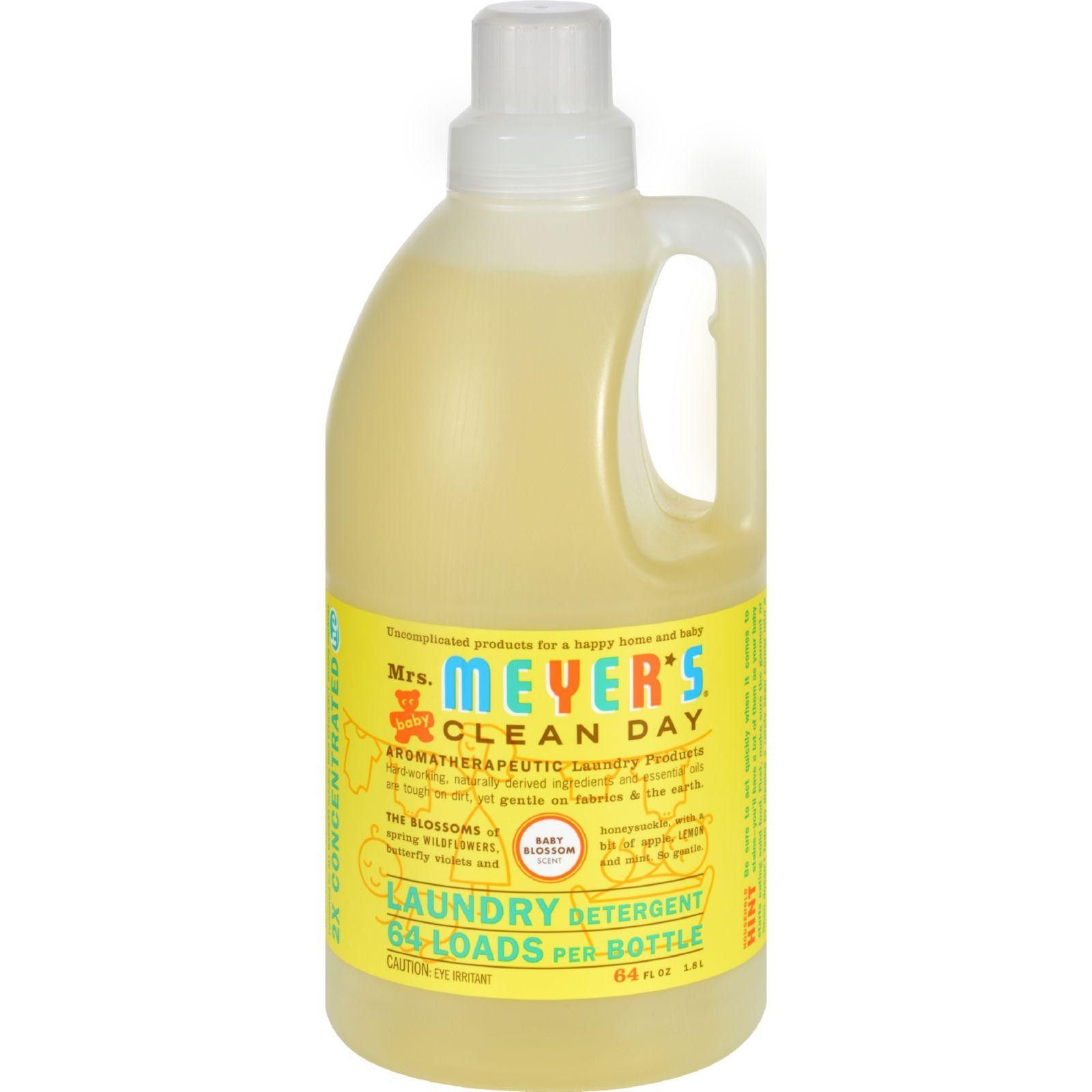 Mrs Meyer S 2x Laundry Detergent Baby Blossom Case Of 6 64 Oz Laundry Detergent Cleaning Day Liquid Laundry Detergent