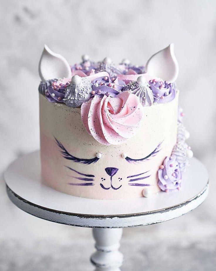Birthday Kitty Cat Cake Cat Cake Kitten Cake Birthday Cake