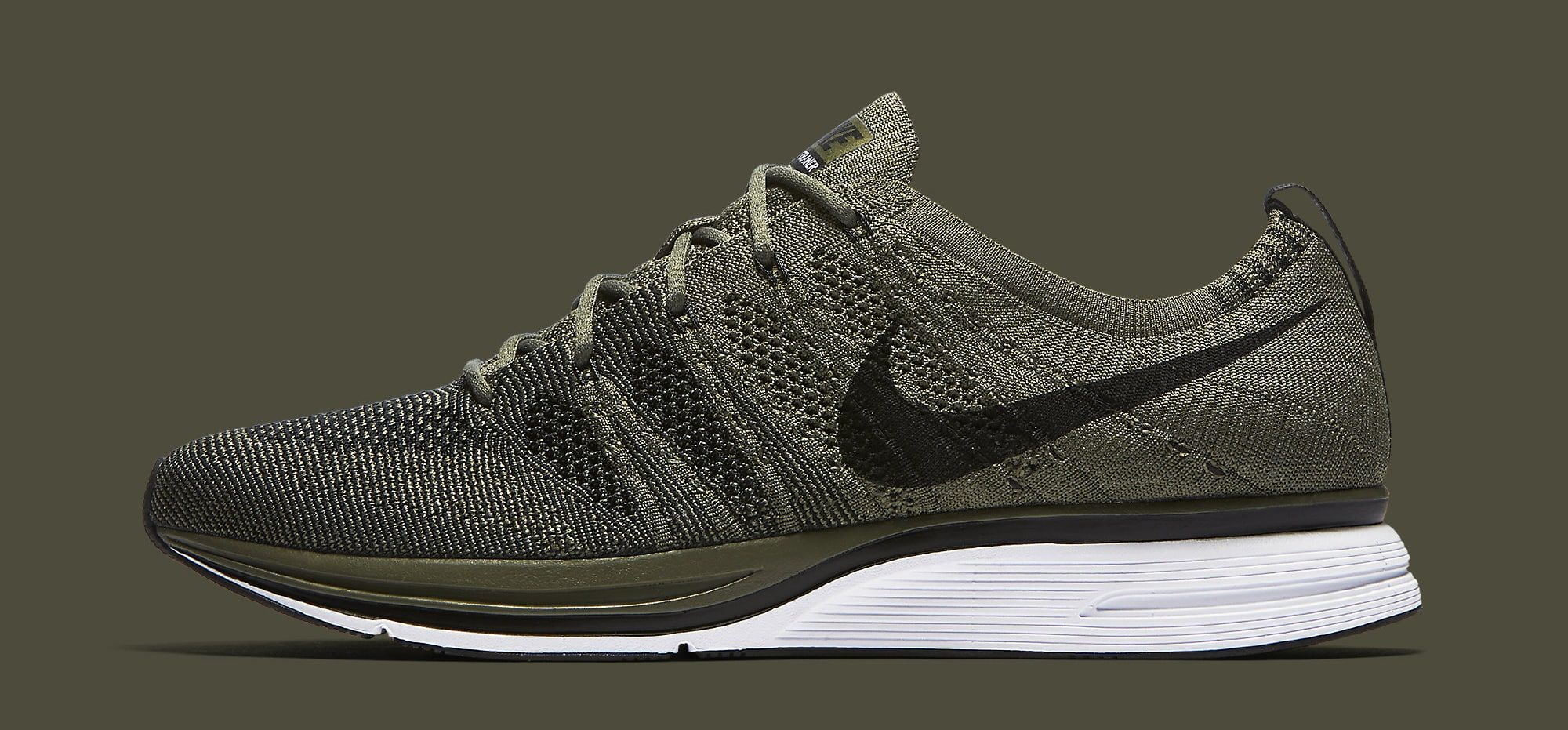 Nike Flyknit Trainer Olive AH8396-200 Profile