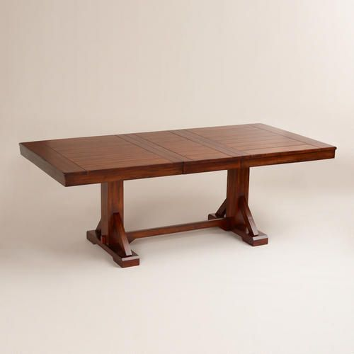 Mahogany Verona Trestle Table World Market Only 499 Rustic Dining Room Table Trestle Table Extension Dining Table