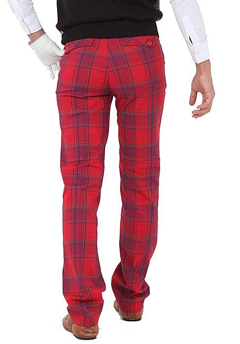 Details about Mens plaid golf pants for men stretch comfortable ...