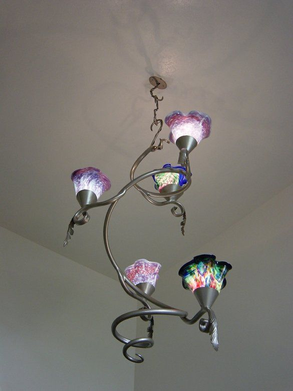 Contemporary Chandelier by Reflections From The Forge