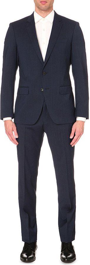 HUGO BOSS Slim-fit two-piece wool suit