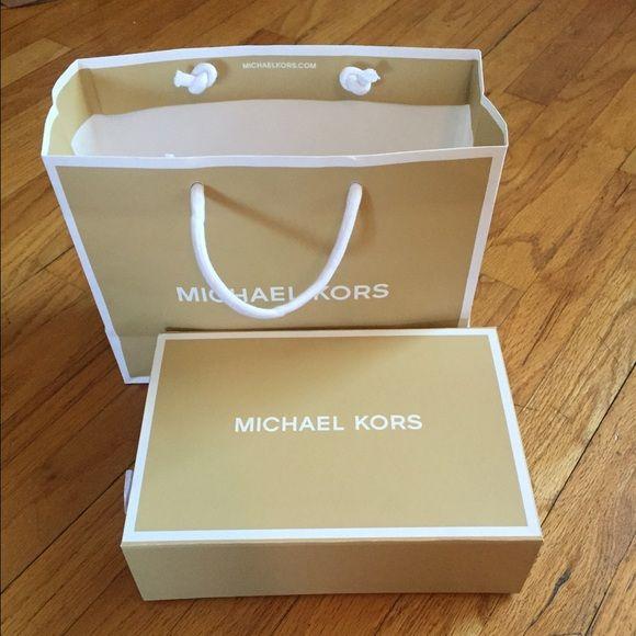 Michael Kors Box and Bag Box and bag for wallet or wristlet. Michael Kors Accessories