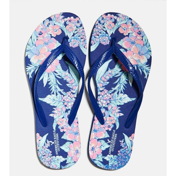 4d7653f0fb0c8f American Eagle Printed Rubber Flip Flop ( 3.99) ❤ liked on Polyvore ...