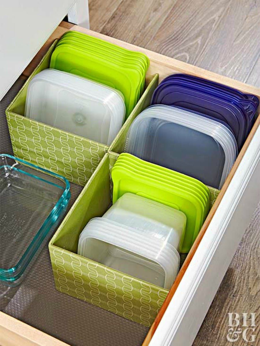 7 Clever Ways To Organize Tupperware And Food Storage Containers Home Organization Kitchen Organization Kitchen Storage Hacks