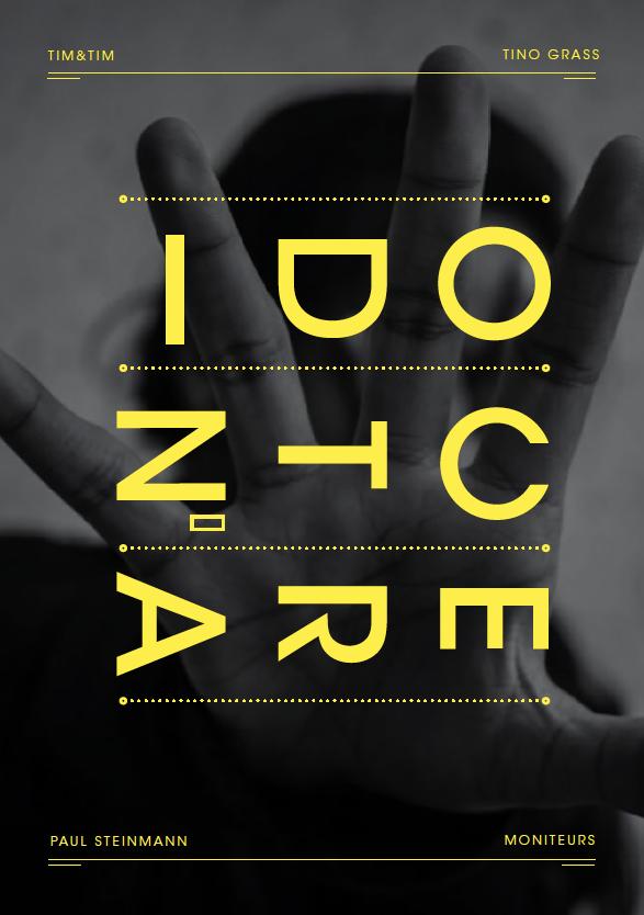 Posterdesign - Poster - KISD - Köln International School of Design - 3pt - Conference -I don't care - Design - Barbara Stöhr