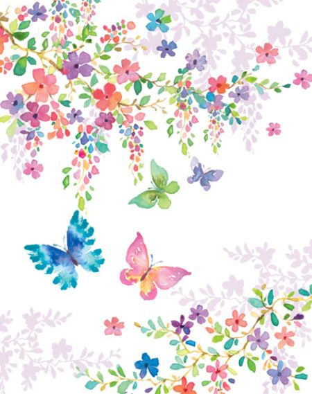 Liz Yee - Butterfly With Floral 2