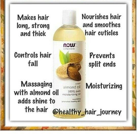 Benefits Of Almond Oil For Hair Healthy Hair Journey Natural Hair Styles Almond Oil Hair