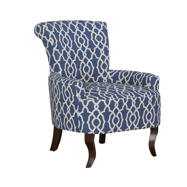 audlington contemporary navy blue patterned fabric upholstered rh pinterest com