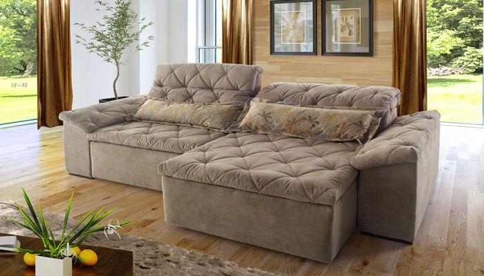 O sof riviera retr til e rebat vel possui em sua for Sofa 03 lugares retratil e reclinavel