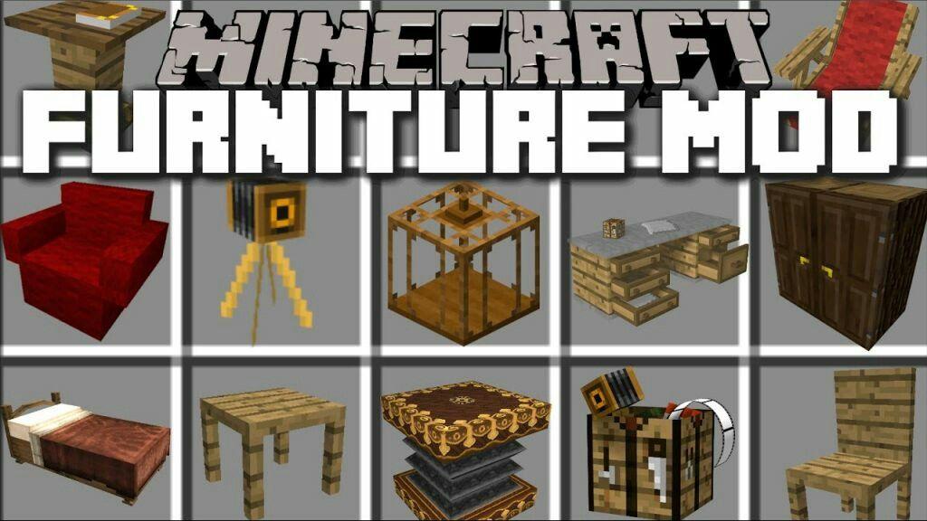 Minecraft Mods Decoración Mods De Minecraft Muebles