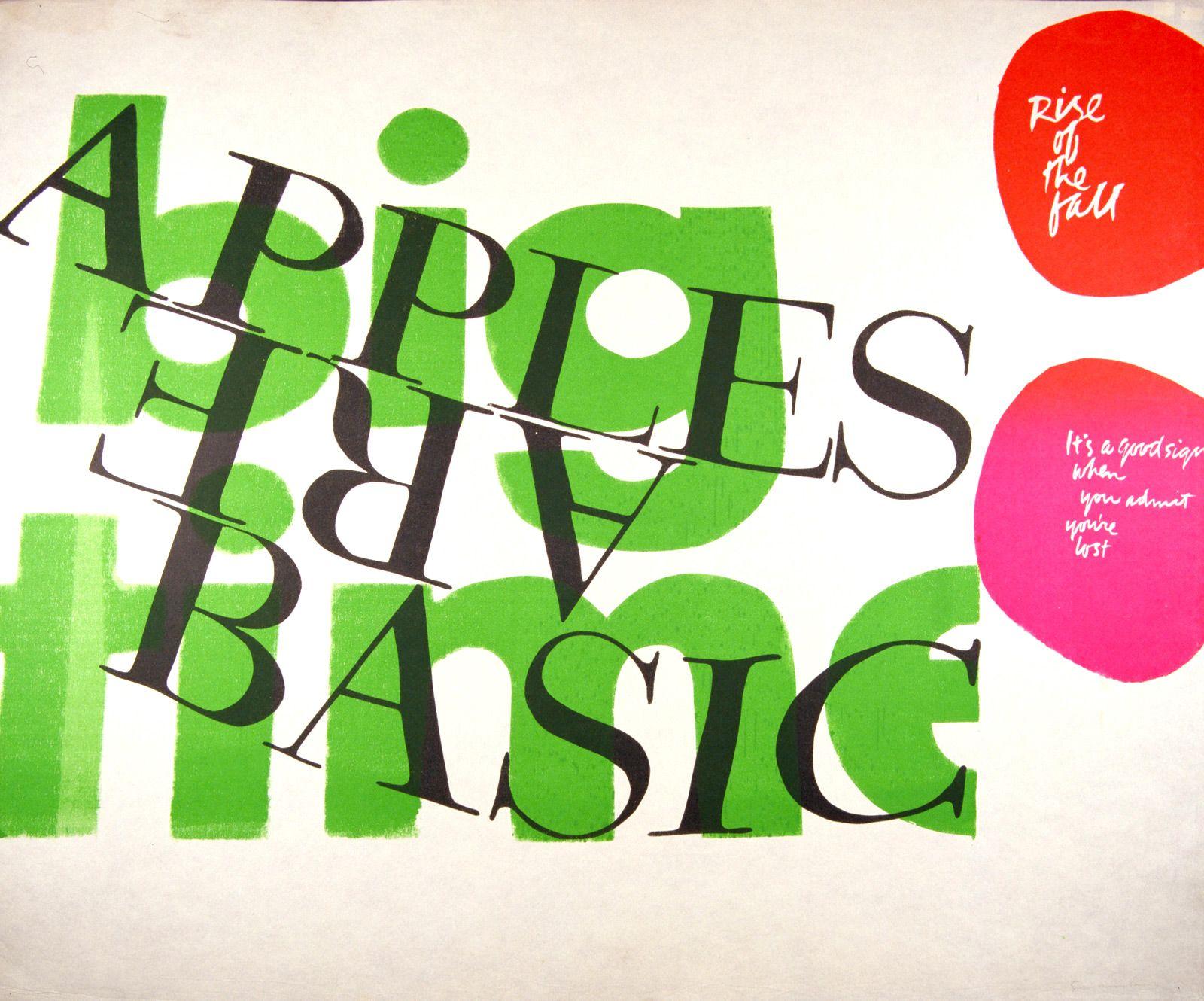 Corita Kent serigraph: Apples Are Basic | Sister Corita Kent ...