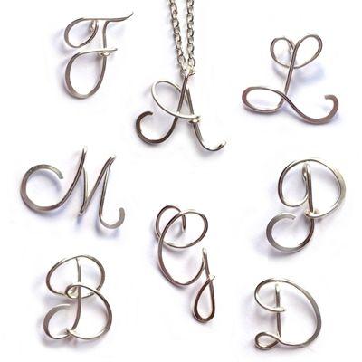 Sterling Silver Initial Necklace | Schmuck selber machen ...