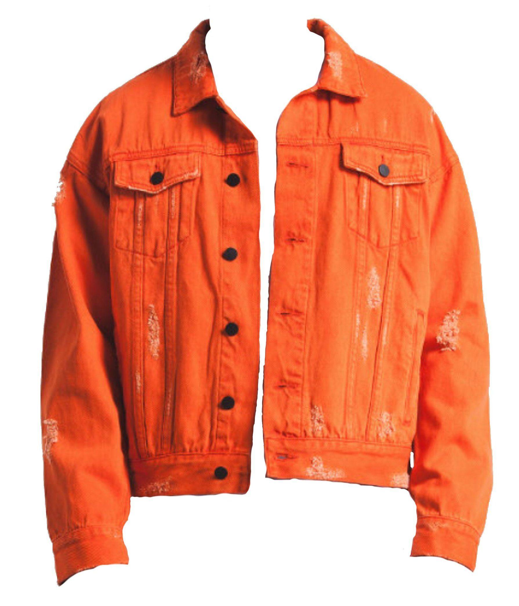 Orange Denim Jacket Outfit Men Orangedenimjacketoutfitmen Mens Outfits Denim Jacket Outfit Jacket Outfits [ 2088 x 1790 Pixel ]