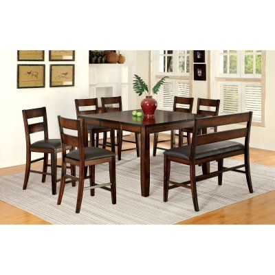 Furniture Of America Gibson Bold Counter Height 8 Piece Dining Enchanting 8 Piece Dining Room Set Review