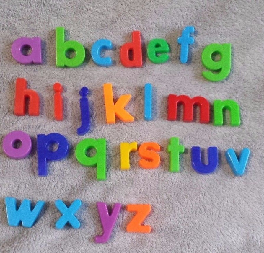 Colorful Plastic 26 Lower Case Alphabet Magnet Letters Teaching