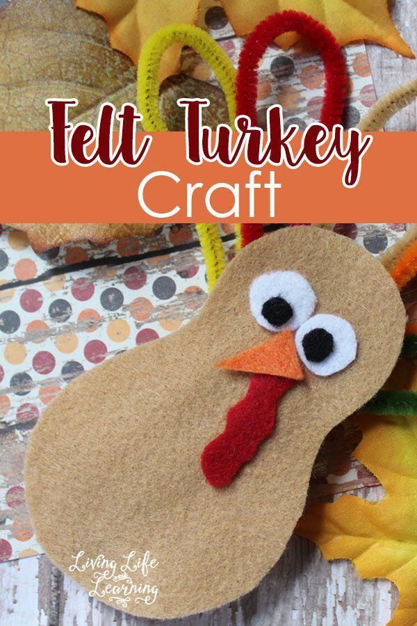 Create your own felt turkey craft for