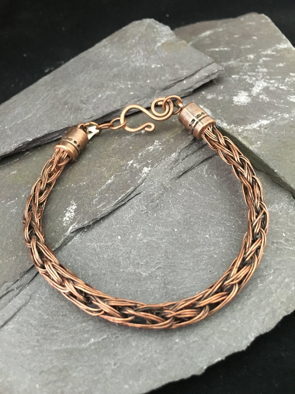 viking knit bracelet celtic bracelet woven copper. Black Bedroom Furniture Sets. Home Design Ideas