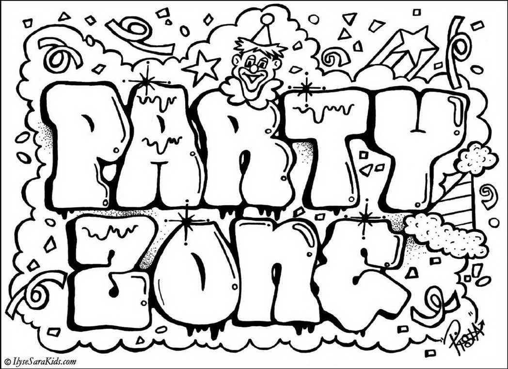 Coloring pages graffiti printable