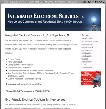 New Jersey Electrical Contractor Website Redesign Website Redesign Contractors New Jersey