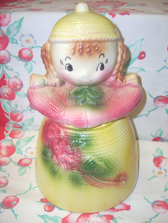 Vintage Cookie Jars For Sale Sweet Vintage American Bisque Yarn Doll Cookie Jar For Sale On Www