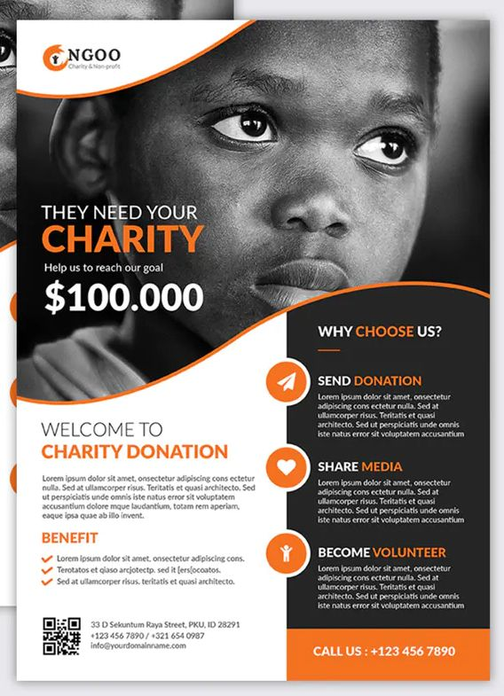 Charity Flyer vol.01 YR by Rometheme on Envato Elements