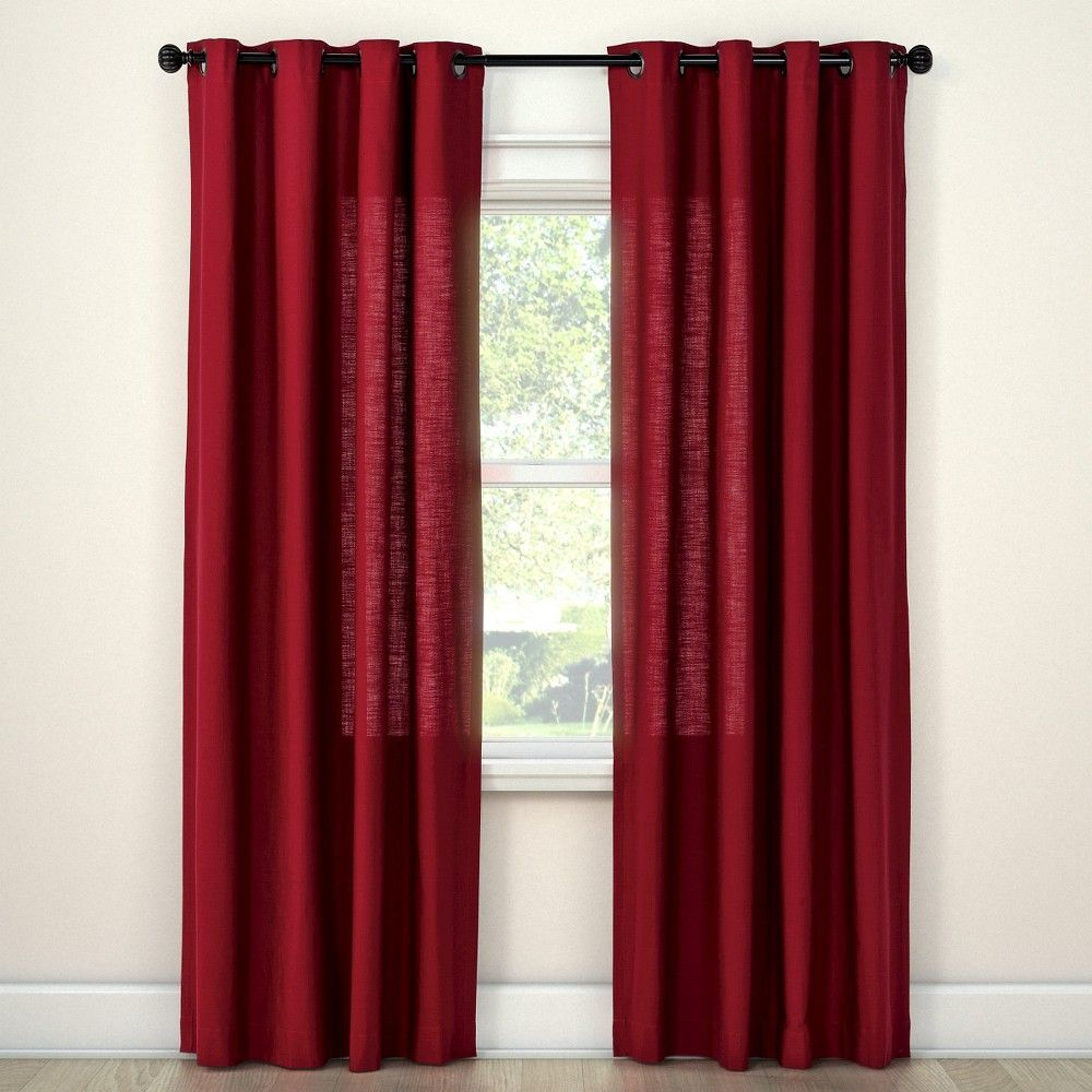 Natural Solid Curtain Panel Ruby Ring 54 X95 Threshold Solid Curtains Curtains Panel Curtains