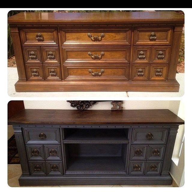 Old furniture redo. Want to try for a TV stand in family room. - - Redone Antique Furniture Antique Furniture