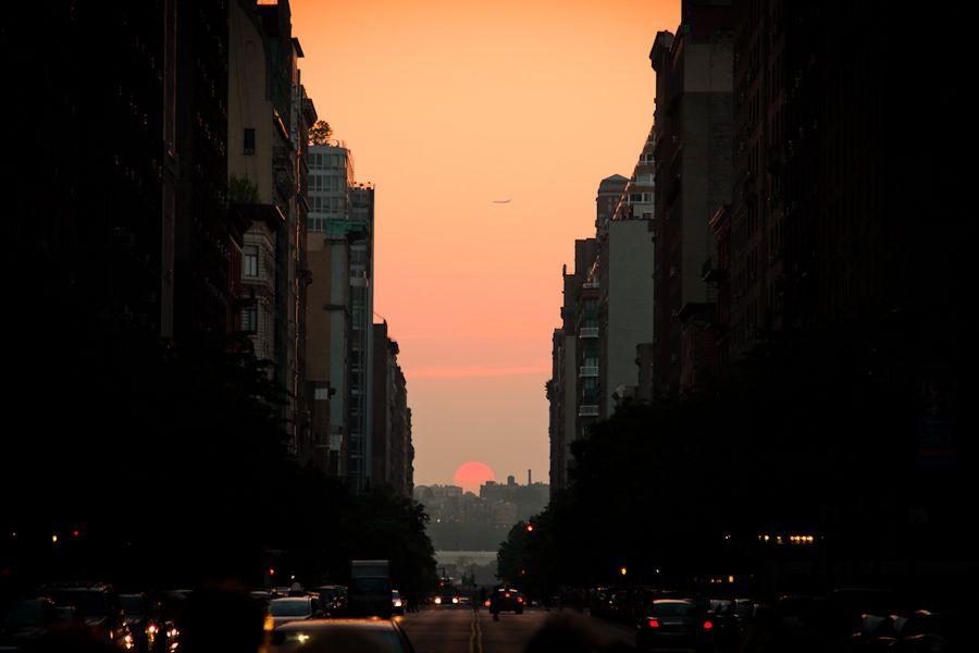 Manhattanhenge, New York Street Photography by James Maher
