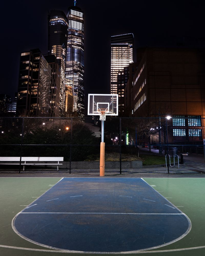 Basketball Court New York City Couch Throw Pillow By Tyler Pavkovich Cover 16 X 16 Basketball Court Pictures Indoor Basketball Court Basketball Wallpaper