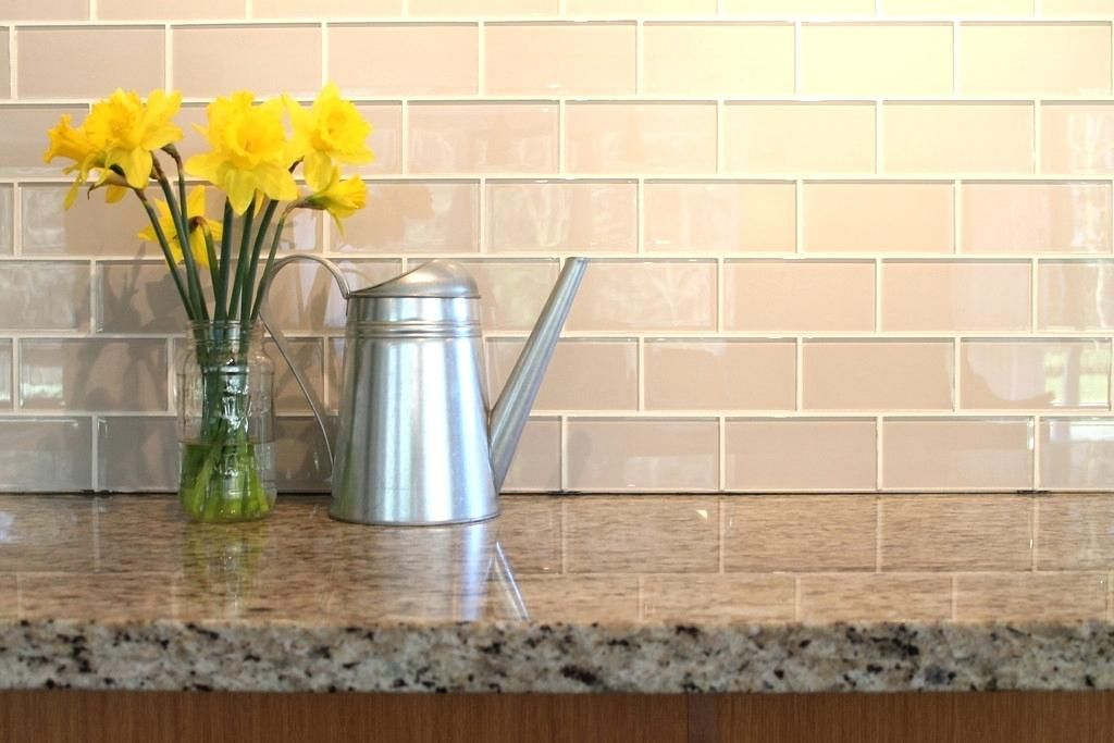 Frosted White Glass Backsplash Home Depot Glass Subway Tile
