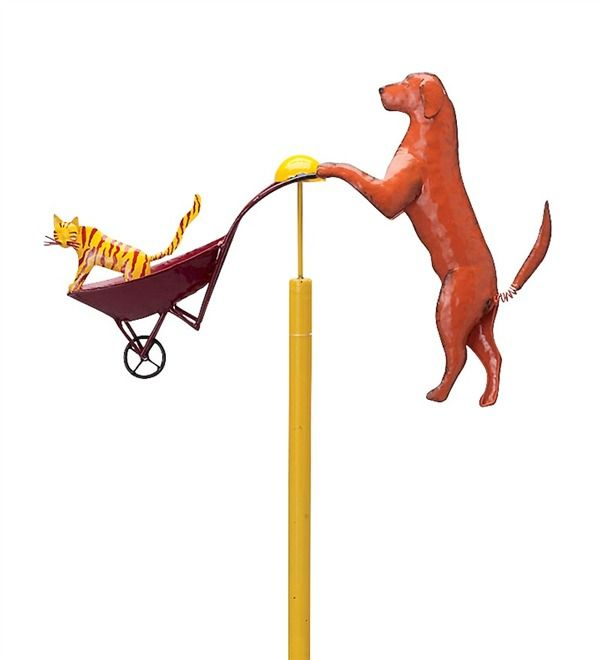 Bon Main Image For Cat And Dog Balancer Garden Stake